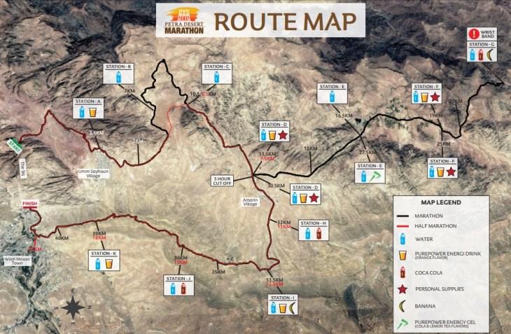 route map petra marathon