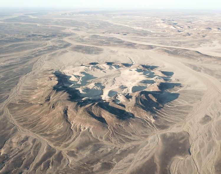 cratère impact meteorite jordanie