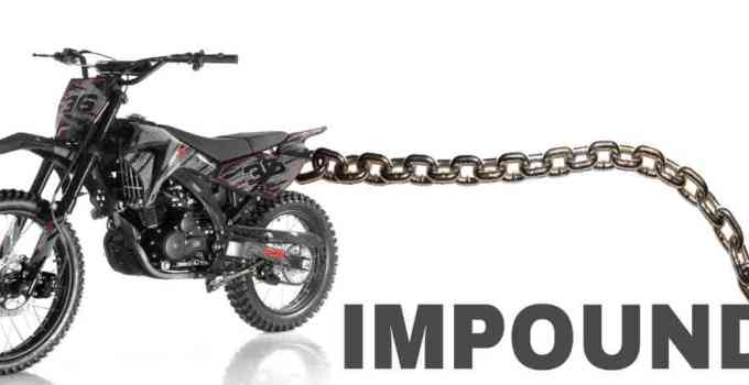 how to get a dirt bike out of impound