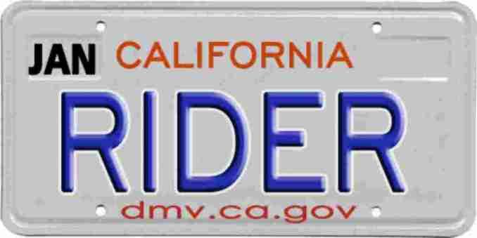 Make a fake motorcycle license plate
