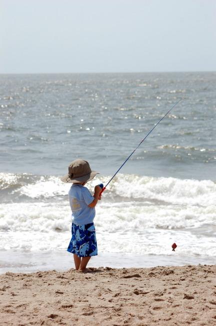 Fishing on Edisto Beach, SC