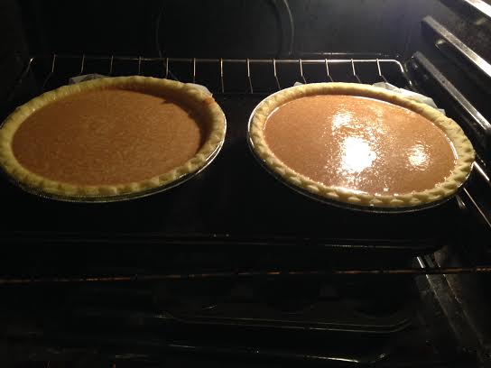 our first attempt at homemade pumpkin pie