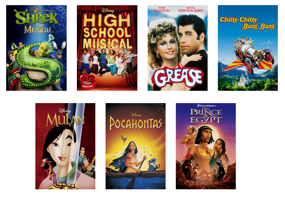 What musicals are on netflix