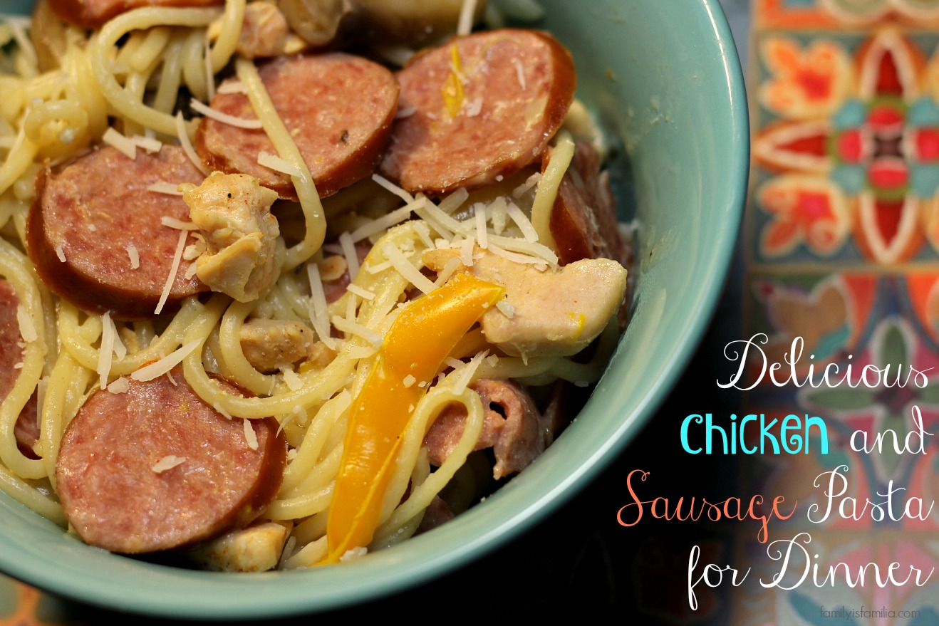 delicious-chicken-and-sausage-pasta-for-dinner