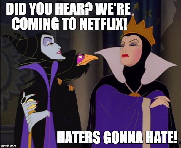 Disney is now on Netflix! Hold my Popcorn!!! #StreamTeam