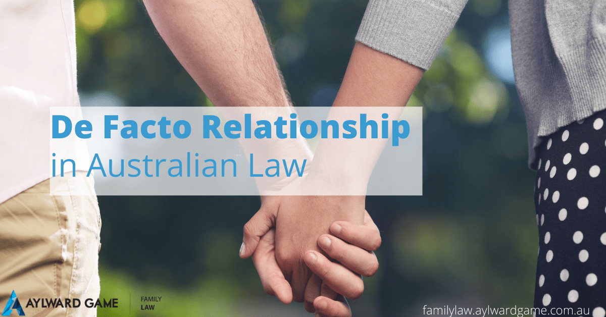 De Facto Relationship in Australian Law