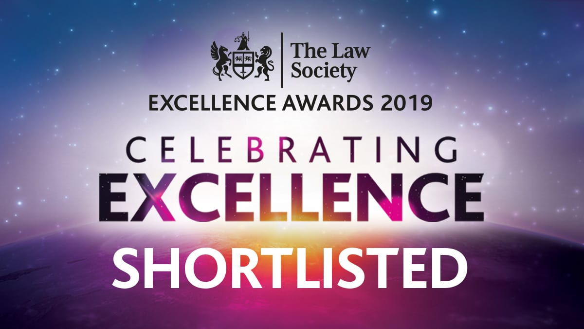 The Law Society Excellence Awards 2019 – We have been shortlisted