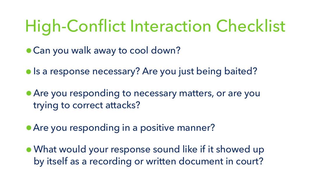 High-Conflict Interaction Checklist