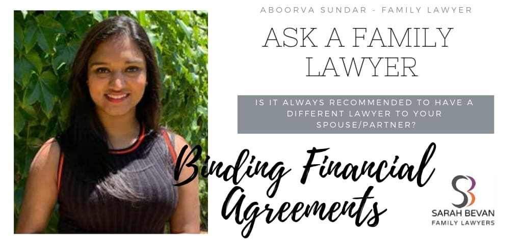 Binding Financial Agreements - Family Lawyer Sydney