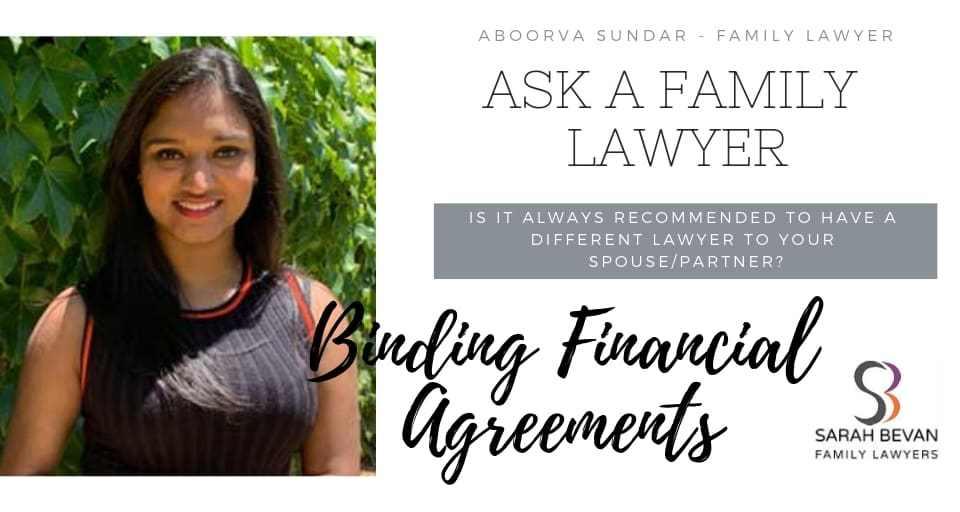 Binding Financial Agreements - Family Lawyer Sydney