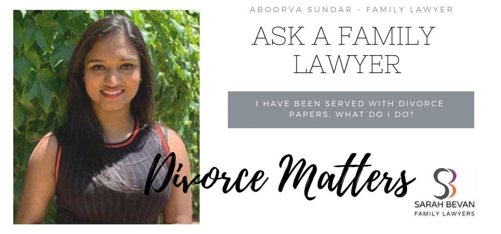 Divorce papers - what do i do - Family Lawyer Sydney