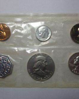 1961 silver proof set nice coins no envelope