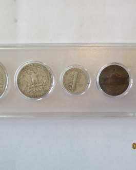 1944 Year set mostly silver coins in Whitman plastic holder nice