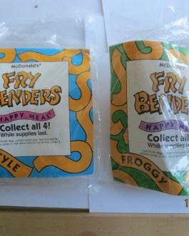 1990 New In Package McDonalds Fry Benders Froggy & Freestyle
