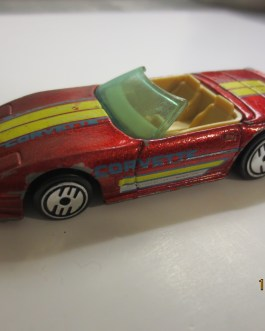 Vintage Hot Wheels 1988 83 Custom Corvette Red Nice condition