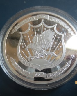 Silver History of America STATUE OF LIBERTY medal Freedom & democracy