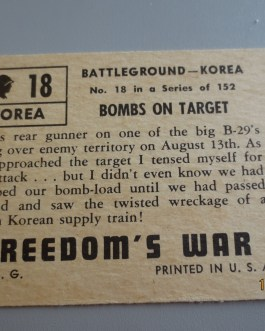 Rare Original 1950 Topps  Freedom's War cards # 18 high grade nice