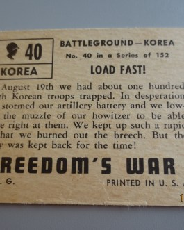 Rare Original 1950 Topps  Freedom's War cards # 40 high grade nice