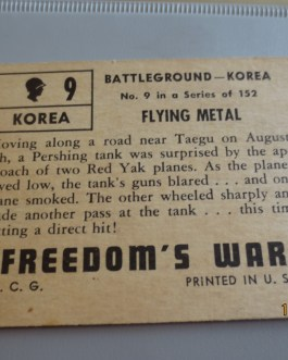 Rare Original 1950 Topps  Freedom's War cards # 9 high grade nice