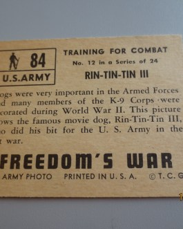 Rare Original 1950 Topps  Freedom's War cards # 84 high grade nice