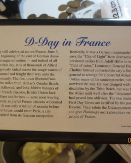 1993 France 1 Franc Silver Coin D-Day WWII Normandy w holder
