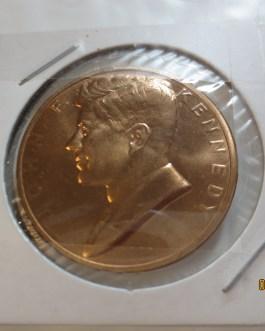 JOHN F. KENNEDY JFK Inaugurated President Copper Coin Token Coin Medal
