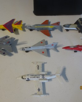 Vintage 1973-78 Diecast Matchbox jet airplane lot 7 vehicles