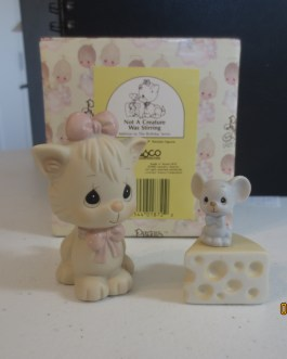 Vintage in box Precious Moments figurine #524484 Not a creature was stirring 1990