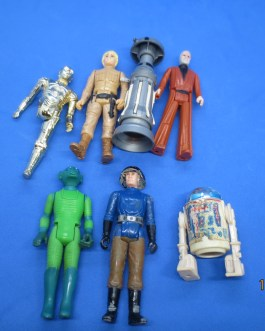 7 piece lot Damaged fodder Star Wars vintage actions figures 1977-1983