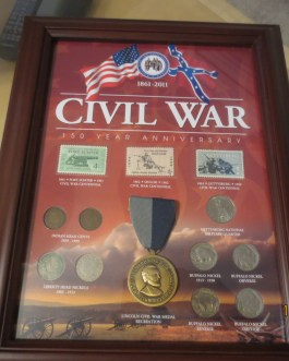 Civil War 150th Anniversary Medal Stamp & Coin Set in Frame a