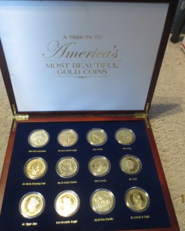 A Tribute To America's Most Beautiful Gold Coins, Set of 12 As pictured