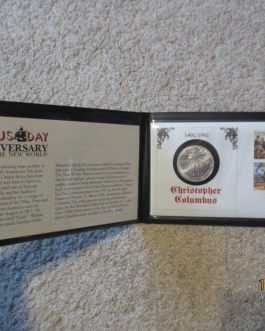 1992-D US Columbus Quincentenary Commemorative BU Silver Dollar W  stamp cover