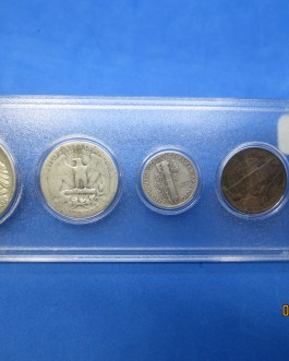 1945 Silver year set Walking Half Washington Quarter Mercury dime & more e