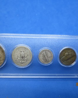 1944 Silver year set Walking Half Washington Quarter Mercury dime & more b