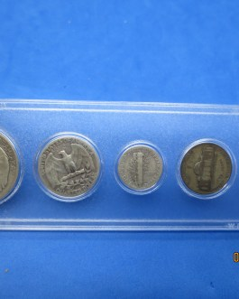 1943 Silver year set Walking Half Washington Quarter Mercury dime & more