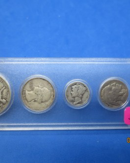 1935 Silver year set Walking Half Washington Quarter Mercury dime & more
