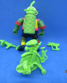 TMNT Teenage Mutant Ninja Turtles 1992 Sewer Cyclin' Raph Near Complete