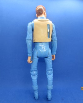 Vintage Louis Marx Quick Draw Johnny West Working Blue 11.5″ Tall