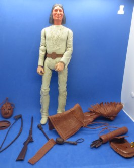 VINTAGE 1960'S JOHNNY WEST BEST OF THE WEST 12 INCH GERONIMO & ACCESSORIES