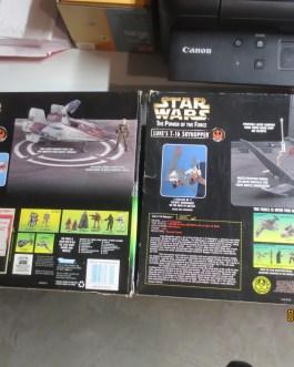 1996/7 Vintage Kenner Star Wars POTF Luke's Skyhopper & A-Wing fighter