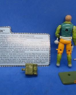 Vintage 1990 Hasbro GI Joe Captain Gridiron Action Figure Broken Crotch