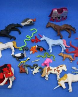 20+ piece lot Playmobil Figures Animals fish birds reptiles etc