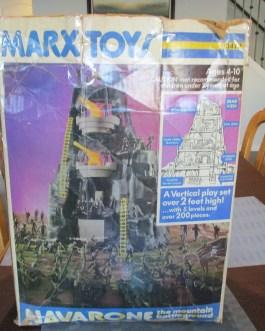 Vintage Mt. Navarone & other Army Playsets Men Tanks Trucks Mountain Marx Toy