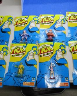 near complete set 8 Bandai Tick Action Figures moc 1994/95