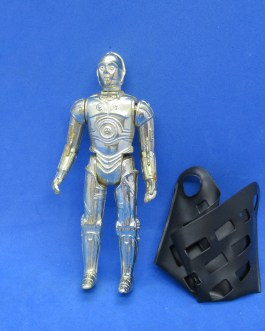 Vintage 1982 Star Wars C-3PO Action Figure 3.75″ removable limbs & net