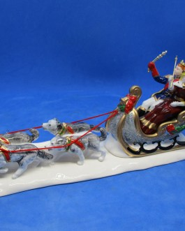 Vintage Department 56 Snow Village ceramic Snow Carnival King & Queen original box