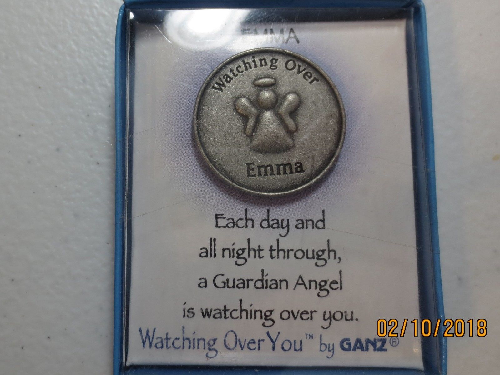 Watching Over You Guardian Angel medal pick the name you want from list  below 3