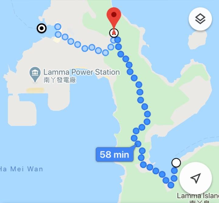 Lamma Island hiking map