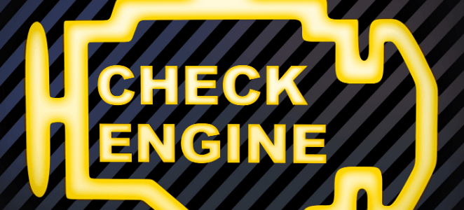 Check engine buying a used car