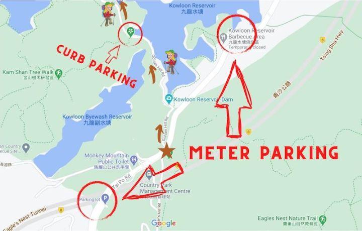 Monkey Hill hike parking